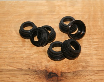 Black Collar Rings, Threaded, 12ct or 24ct for use with 28/400 Soap Dispenser Pumps - Used with Mason Jar Dispensers