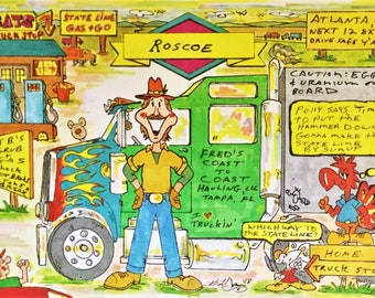 TRUCK DRIVER Personalized Cartoon