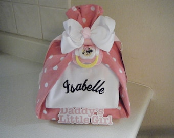 Personalized Stork Bundle Diaper Cake/Baby Shower Centerpiece/Baby Shower Gift/New Mommy Gift