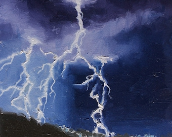 Electrifying - Weather Art - Art for the Home - Interior Decoration - Lightning