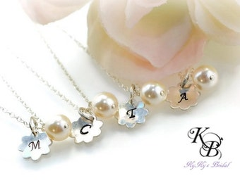 Flower Girl Jewelry Set, Personalized Necklace Set, Flower Girl Necklace, Flower Girl Jewelry , Flower Girl Jewelry, Gifts For Girls