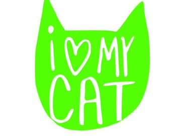 I love my Cat Decal