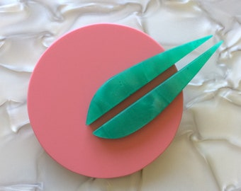 Jupiter Brooch Pink and Green