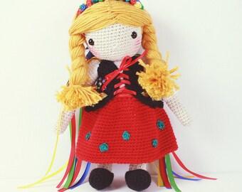 Crochet Doll - Cracovian folk girl