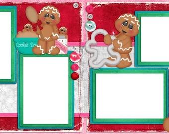 Baking Up Memories - Digital Scrapbook Quick Pages - INSTANT DOWNLOAD