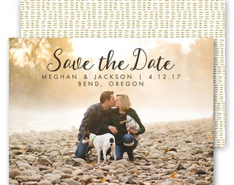 Save the Date Card Template - Save the Date Card - Save the Date - Engagement Announcement