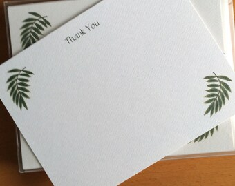 Palm Leaf, Flat Notes, Thank You, Garden Theme, Tropical, Thinking of You, Business Notes, Greenery, Garden Shop Gift, Event Planner, Gift