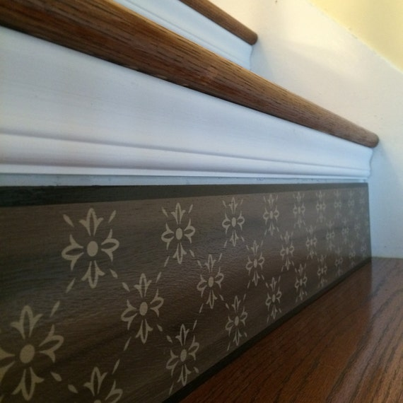 Wood Stairs Painted Risers: Alternative To Stair Riser Decals Stair Stencils And Stair