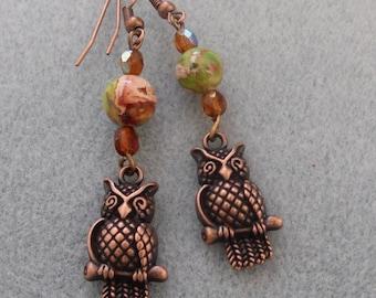 Owl Dangle Earring