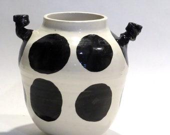 Black Dot Vase