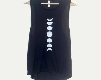 Women Moon Phases Shirt, moon phases top, Moon shirt, Moon Top, womens tank top, minimalistic shirt