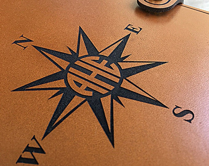 Personalized Leather Journal Monogramed-