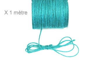 TURQUOISE, 2 mm hemp cord