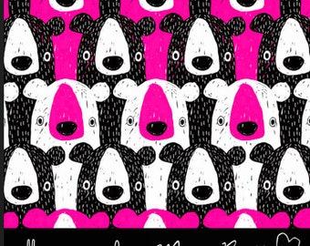 Bears - Pink - Organic Cotton Jersey - Majapuu