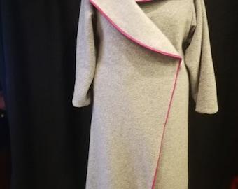 Women coats, wool coats, oversize coat, gray asymmetric cats, cardigan, plus size coat, Elegant gray coat, Oversize jackets, wool clothing
