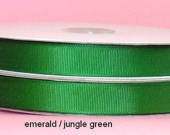 5/8 x 50 yds GROSGRAIN RIBBON - Emerald   *SAVE 25%*