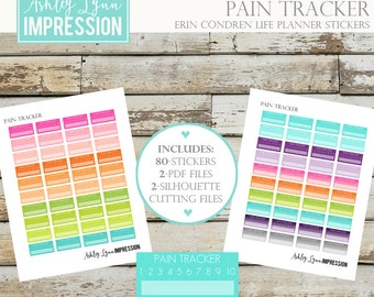 ECLP Pain Tracker Printable Planner Stickers