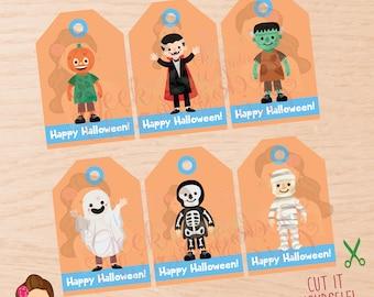 Halloween, Halloween tags, Halloween favor tags, kids halloween tags, Halloween party, Halloween boys tags, Halloween treat tags, Boys tags.