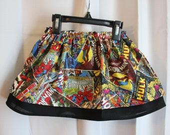 Marvel Comic toddler skirt