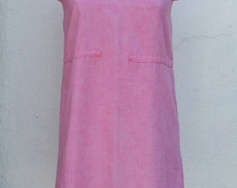 Vintage 1960s MOD Pink Mini Shift Dress