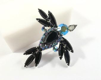 Juliana Rhinestone Brooch, Vintage Jewelry, Juliana Jewelry, Juliana Brooch, Bird Pin, Rhinestone Jewelry, Large Brooch, Mid Century Brooch
