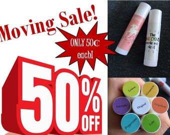 25 Lip Balms w/ Essential Oil! (Chapstick, Unicorn, Custom, Thank You, Gifts,  Promo, SWAG)
