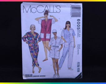 McCall's Sewing Pattern 6005 Size (6,8) Extra Small Focus on Overlock (Serger) Sewing Misses' Jumpsuit in Two Lengths, Uncut