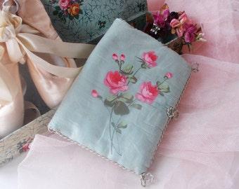 French Lingerie Boudoir Case Folder Antique Trousseau Silk Hand Painted