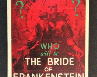 "Bride of Frankenstein Movie Poster 12""18"" Reproduction"