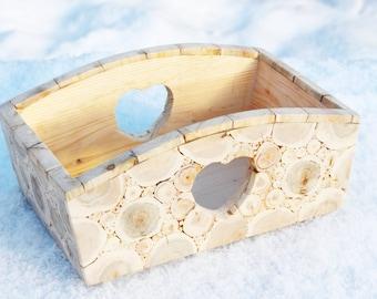 Juniper Wood Box, Wooden Bread Box, Handmade Wood Box, Rustic Home Decor, Supply Casket, Untreated Wood, Rustic Wedding Box