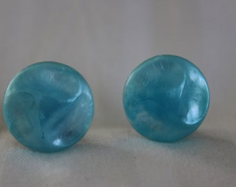 Sky-Blue Lucite Earrings