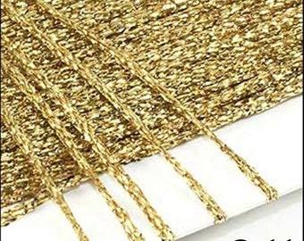 Gold Metallic Hand Yarn! 1x25m Cards!