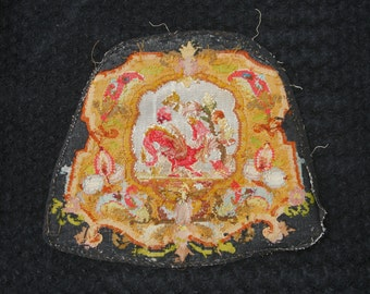antique tapestry little points