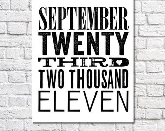 Special Date Art Personalized Date Artwork Home Decor First Anniversary Date Sign Wedding Date Print Gotcha Day 1st Anniversary Gift Paper