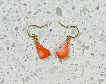 Bamboo Coral Earrings - Gold or Silver