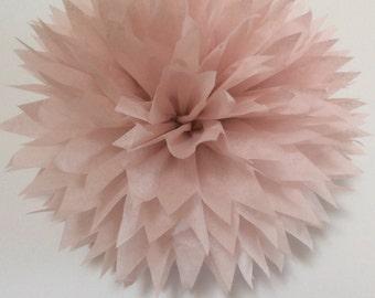 Dusty Pink Pom Poms, Blush Bridal Shower Decorations, Rose Quartz Baby Girl Shower Decorations, Dusty Rose Bachelorette Party