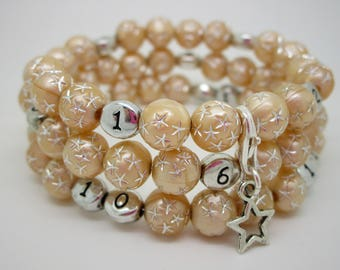 Nursing champagne star treasure bracelet
