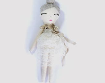 Maisie Cloth Doll in Lace Fairy Outfit