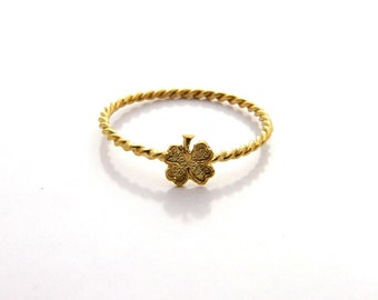 Four leaf Ring GOLD Filled ring thin gold ring everyday ring gifts for women, delicate ring