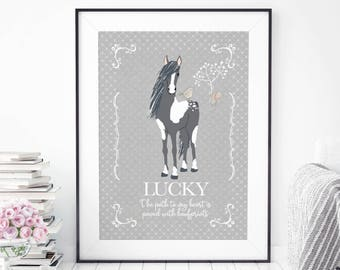 Personalised Horse Print   Horse Lover Gift   Horse Wall Art   Custom Horse Print   Personalised Horse Gift   Horse   Gift for Horse Lover