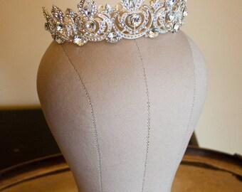 Josephine Crown, Wedding Crown, Bridal Crown, Full Bridal Crown Swarovski Crystal Wedding Crown Crystal Wedding Tiara, Bridal Tiara