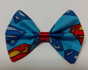 Superman Symbol Cloth Hairbow