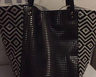 XL MOSAIC star bottom tote bag