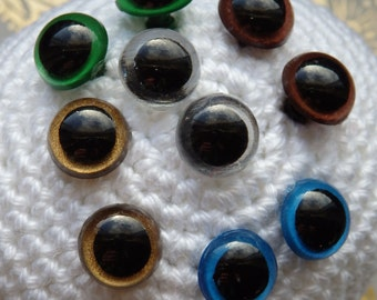 Safety eyes 10 mm multi color, veiligheidsoogjes 10 mm kleurmix, safety eyes color mix, dolls eyes 10 mm, amigurumi eyes 10mm, animal eyes