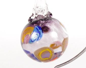 110276 Medium Hand Blown Hanging Art Glass Ball Decorative Ornament