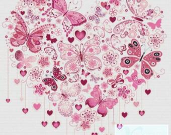 Butterfly Heart PDF Cross Stitch Pattern