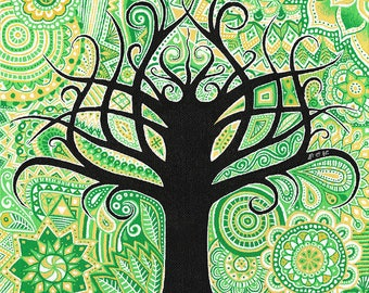 """Painting on canvas """"Tree of life"""" - """"Tree of life"""" painting"""