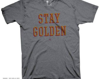 Stay Golden University Golden Knights Tee - Gray Triblend T-shirt