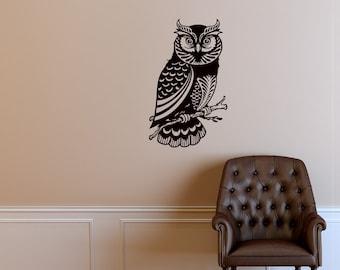 Owl Bird Animals Wall Vinyl Decal Sticker Home Decor Art Mural Z444