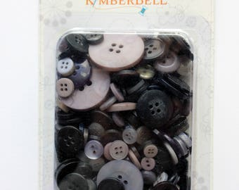 KimberBell Black and Gray Button Collection